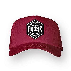 Boné Trucker Bronx Bordo