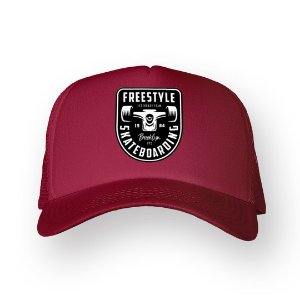 Boné Trucker Freestyle Bordo