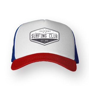 Boné Trucker Surfing Club Texas