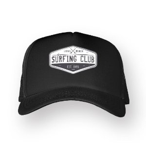 Boné Trucker Surfing Club Preto