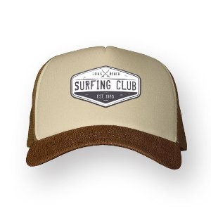 Boné Trucker Surfing Club Camel