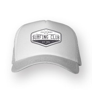 Boné Trucker Surfing Club Branco