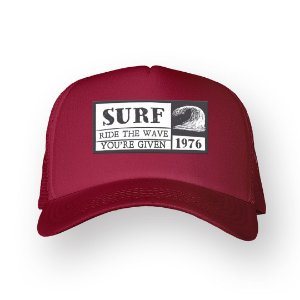 Boné Trucker Surf Bordo