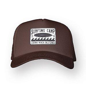 Boné Trucker Surfing Camp Marrom