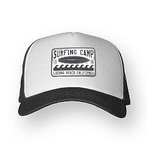 Boné Trucker Surfing Camp Chumbo com Branco