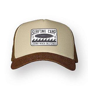 Boné Trucker Surfing Camp Camel