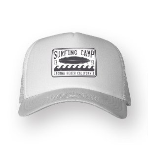 Boné Trucker Surfing Camp Branco