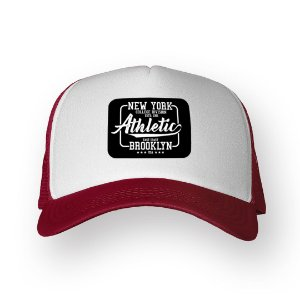Boné Trucker New York Bordo com Branco