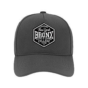 Boné Aba Curva Bronx Cinza