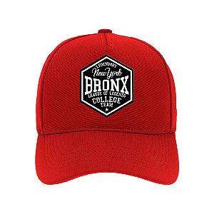Boné Aba Curva Bronx Vermelho