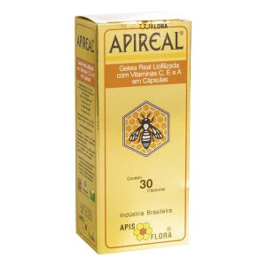 Apireal Geleia Real Liofilizada 30Cps Apisflora