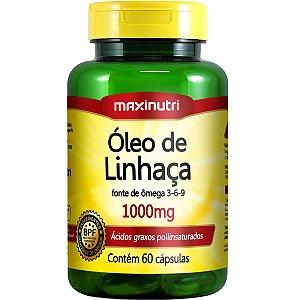 OLEO DE LINHACA 60CPS 1G MAXINUTRI