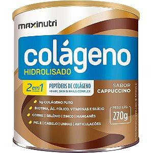 Colageno 2 Em 1 Zero Ac Cappuccino 270G Maxinutri