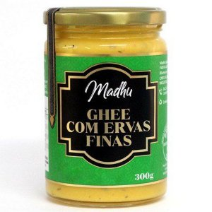 Manteiga Ghee Clarificada Ervas Finas 150Ml Madhu Bakery