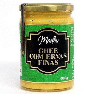 Manteiga Ghee Clarificada Ervas Finas 300Ml Madhu Bakery