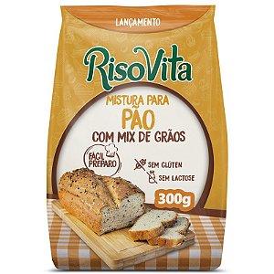 Mistura Pao Com Mix De Graos S/Gluten/Lactose 300G Risovita