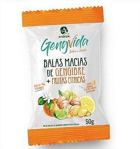 Balas De Gengibre Frutas Cítricas 50G  Ardrak