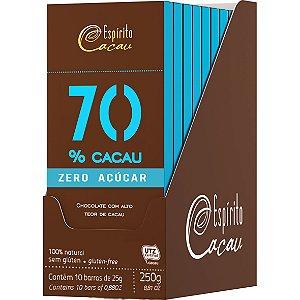 Chocolate 70% 25G X 10un Zero Espirito Cacau