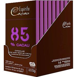 Chocolate 85% 10un X 80G Espirito Cacau