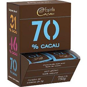 Chocolate 70% 30un X 5G Espirito Cacau