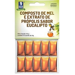 Mel Propolis/Eucalipto 10 Saches X 4G Cartela Doctor Berger