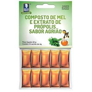 Mel Propolis/Agriao 10 Saches X 4G Cartela Doctor Berger