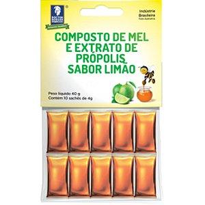 Mel Propolis/Limao 10 Saches X 4G Cartela Doctor Berger