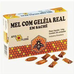 Mel Com Geleia Real 36 Saches 144G Apisflora