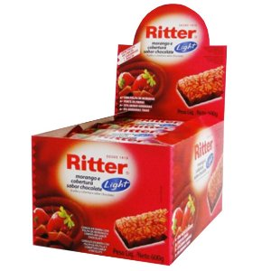 Barra Cereal Light Morango/Chocolate 25G 24un Ritter