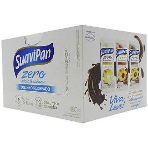 Bolinho Baunilha Recheio Chocolate 12Un X 40G SuaviPan