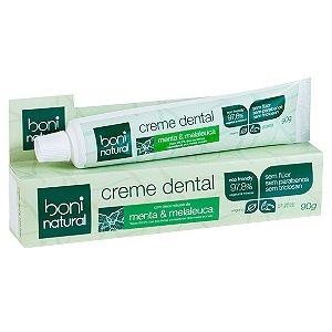 Creme Dental 90G Menta/Melaleuca Boni Natural