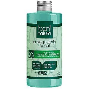 Enxaguante Bucal 500Ml Menta/Melaleuca Boni Natural