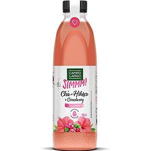 Chá de Hibisco + Cranberry Zero Pet 900ml Campo Largo