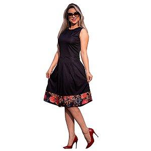 71471fee9 Vestido Feminino Festa Midi Babado Listrado Moda Evangélica ...