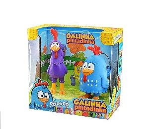 Galinha Pintadinha e Galo Carijo (Bonecos)