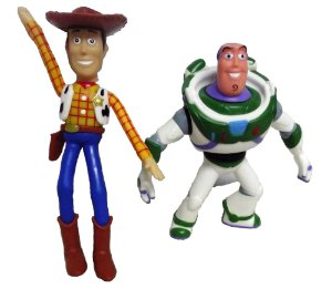 Woody e Buzz - Bonecos de Vinil atóxico