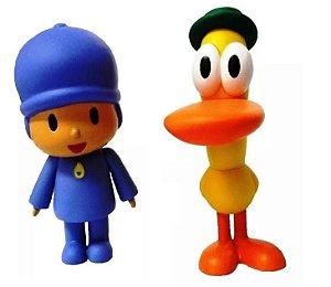 Pocoyo e Pato - Bonecos de vinil atóxico