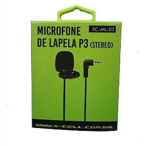 Microfone de Lapela P3 X-Cell XC-ML-02