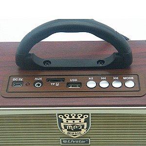 Rádio Retrô Livstar CNN-2580BT 3Faixas AM/FM 5W