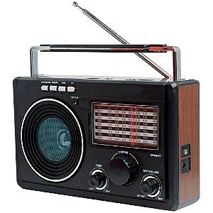 Rádio Retrô Lelong LE-609 11Faixas AM/FM 3W.