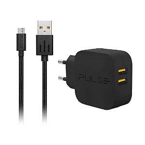 Carregador CB152 Pulse Micro USB 15W Preto