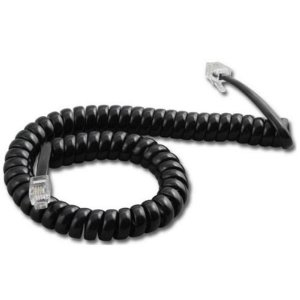 Extensão Espiral para Telefone RJ-11 Preto1.8MT