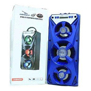 Caixa de Som Grasep D-BH4301 Azul
