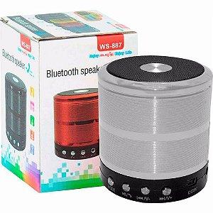 Midi Box Mini Speaker WS-887 Prata 5W