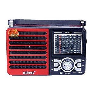 Rádio Lelong LE-613 3 Faixas AM/FM/SW1-7  Vermelho