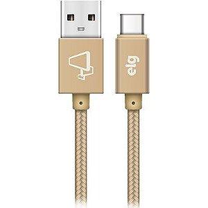 Cabo USB Tipo-C TC10BG Elg 1MT Dourado