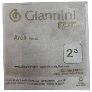 2ª Corda p/ Violino Geavva2 Giannini LA Aço