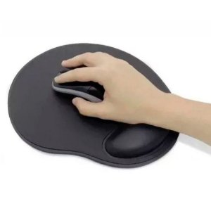Mouse Pad Emborrachado com Apoio Lifetime Preto