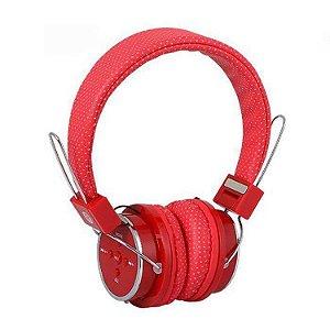 Fone de Ouvido Bluetooth B-05 BT Vermelho