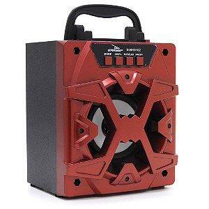 Caixa de Som Portátil Grasep D-BH3102 Vermelho